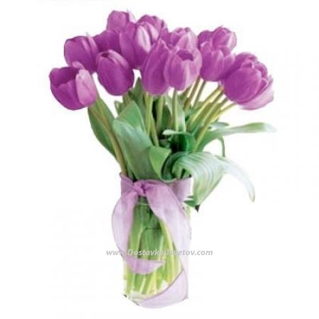 """Сиреневые тюльпаны """"Мой Мир"""""""