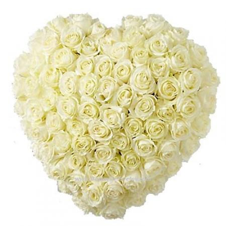 """Белые розы в """"Сердце Ангела"""""""
