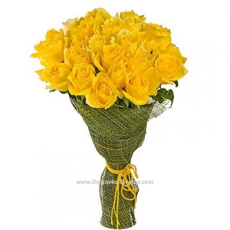 "Розы желтые ""Теплота Лета"""