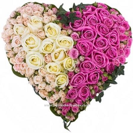 """Сердце из роз """"Твоя Половинка"""""""