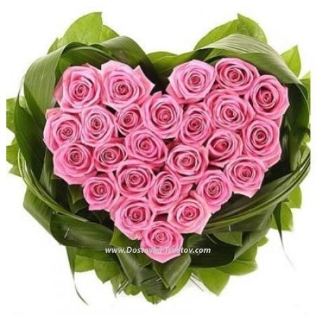 "Сердце из роз ""Коко Шанель"""