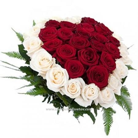 """Розы в виде сердца """"Ненаглядная"""""""