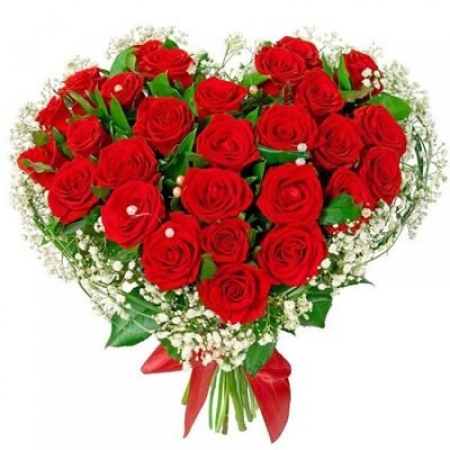 """Розы в форме сердца """"Шакира"""""""