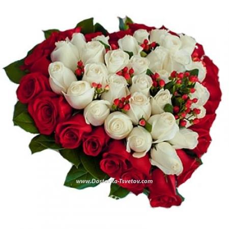 """Розы в форме сердца """"Иоланта"""""""