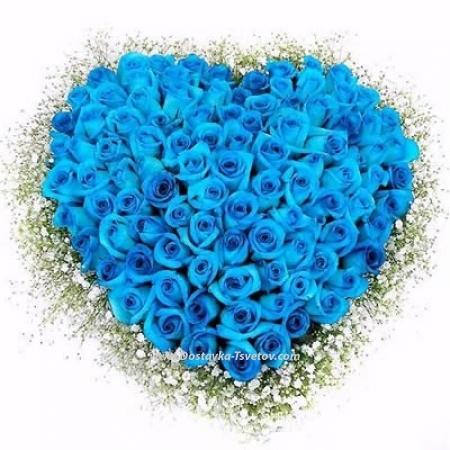 "Сердце из роз ""Вспышка Любви"""