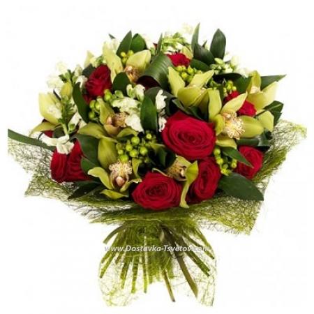"""Орхидеи и розы """"Волшебный Лес"""""""