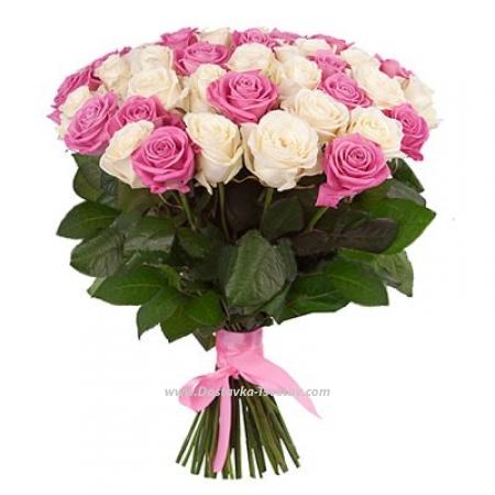 """Букет из 51 розы """"Сон Принцессы"""""""