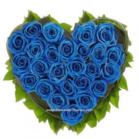 """Сердце из роз """"Сладкий Рубин"""""""