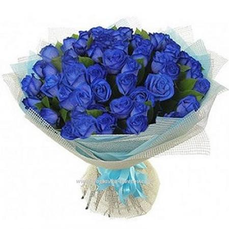 """39 синих роз """"Галактика Небес"""""""