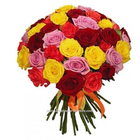 """Букет разноцветных роз """"Самбо"""""""