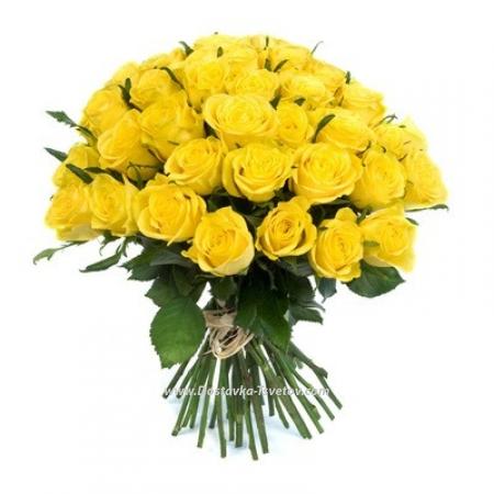 """Букет из жёлтых роз """"Сахара"""""""