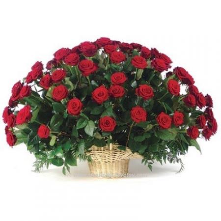 """Корзина красных роз """"Любовь"""""""