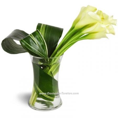 """Каллы в вазе """"Элегантность"""""""