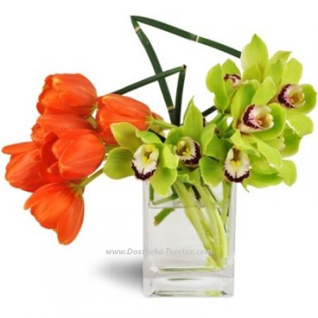 "Орхидеи и тюльпаны ""ЛяМур"""