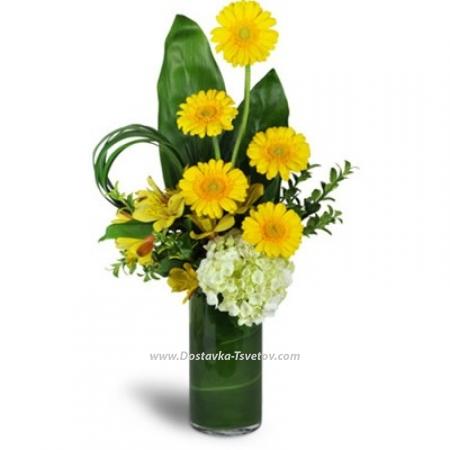 """Микс цветов в вазе """"Санни Дэй"""""""
