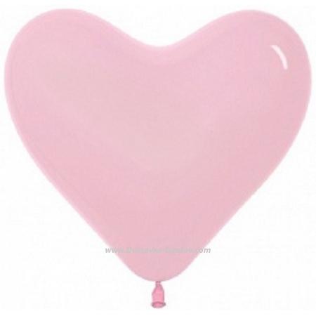 Гелиевые шары Розовое Сердце
