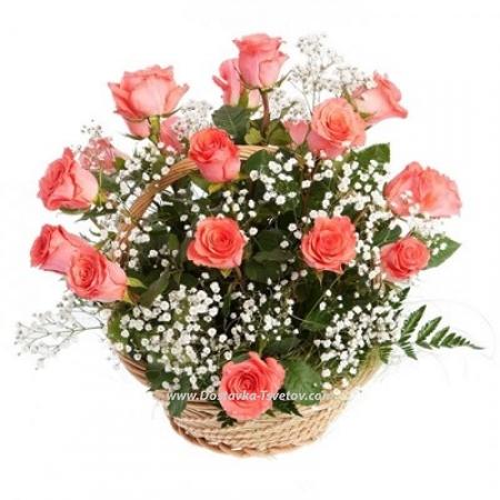 """Розы в корзине """"Вкус Желаний"""""""
