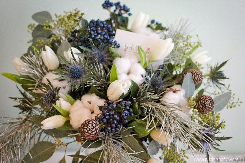 Флористика зимний букет, цветов для