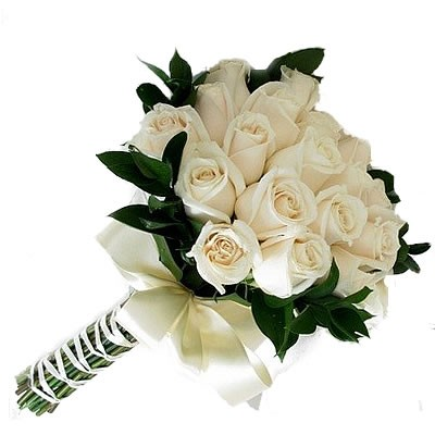 купить букет невесты из белых роз в москве